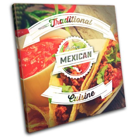 Mexican Typography Food Kitchen - 13-6051(00B)-SG11-LO